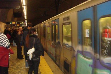 Taking the Metro in Rome