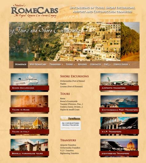 Rome Cabs Website www.RomeCabs.com