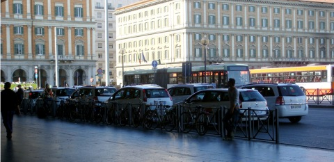 Taxi Rank at Termini Station