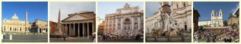 Panoramic Rome collage