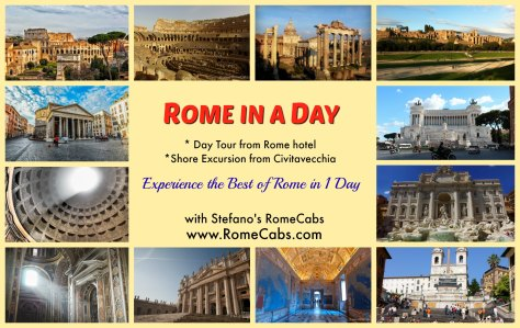 ROME IN A DAY TOUR from Civitavecchia with Stefano's RomeCabs
